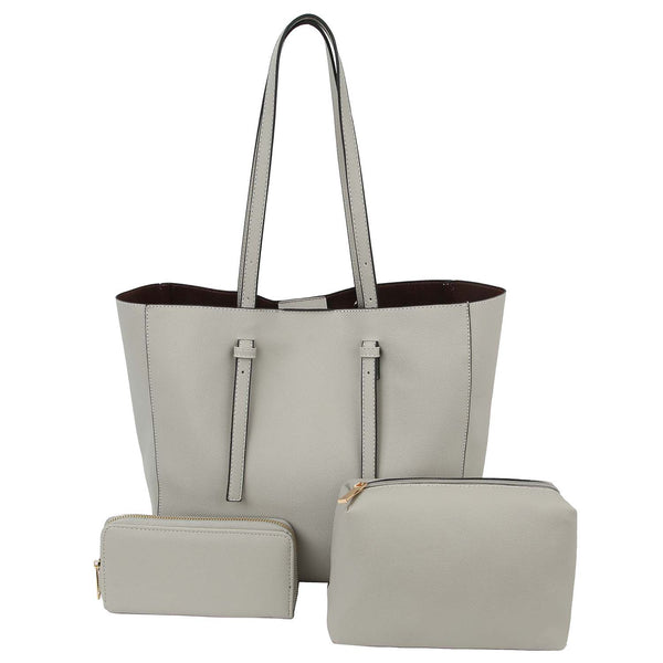 Grey 3-In-1 Tote Set