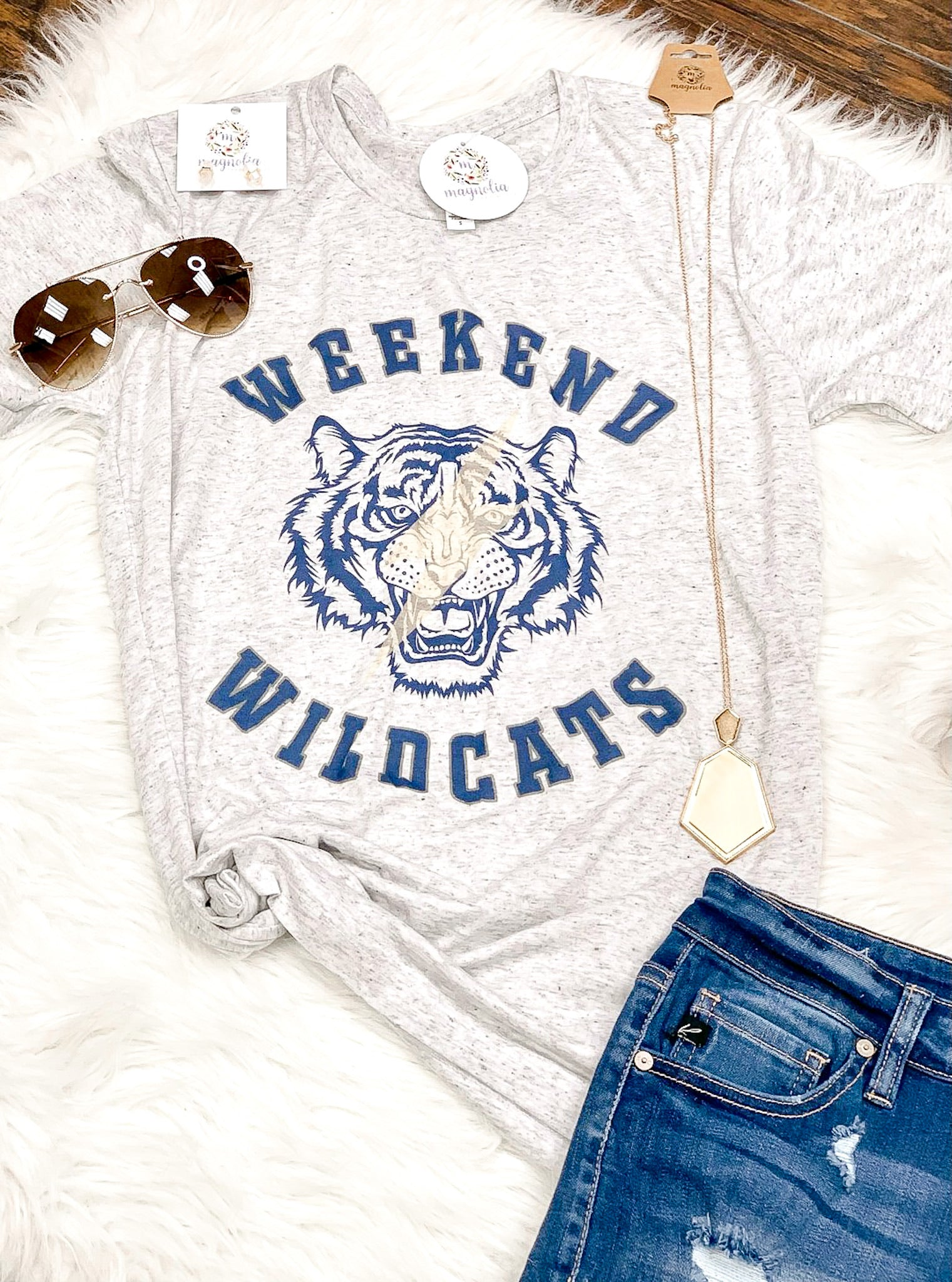 Weekend Wildcats Vintage Style Graphic Tee