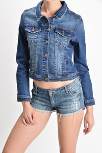 KanCan Medium Wash Denim Jacket