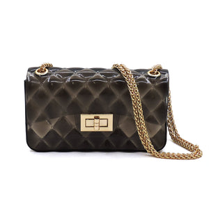 Black Quilted Jelly Crossbody