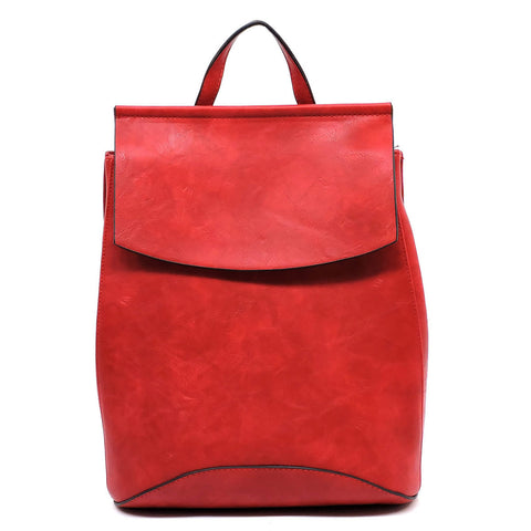 Red Flap Backpack