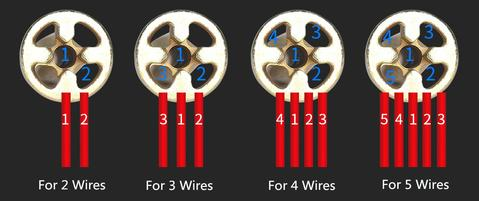 Connect up to 5 wires using the Universal Wire Connector