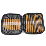 Bamboo Crochet Hook Set with Case 20pcs