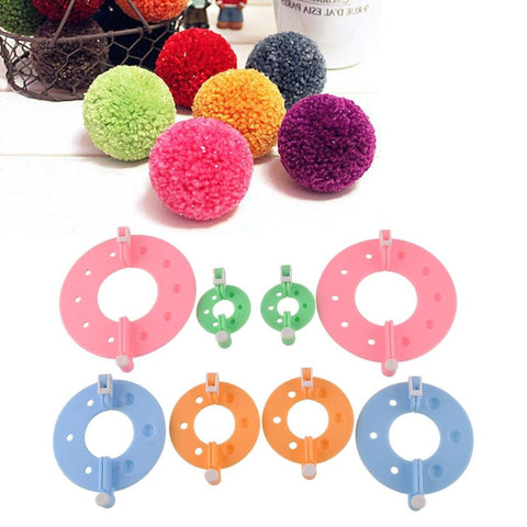 Pom Pom Maker Set 4 sizes 8pcs