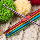 Multi-Color Aluminum Crochet Hook Set 22pcs