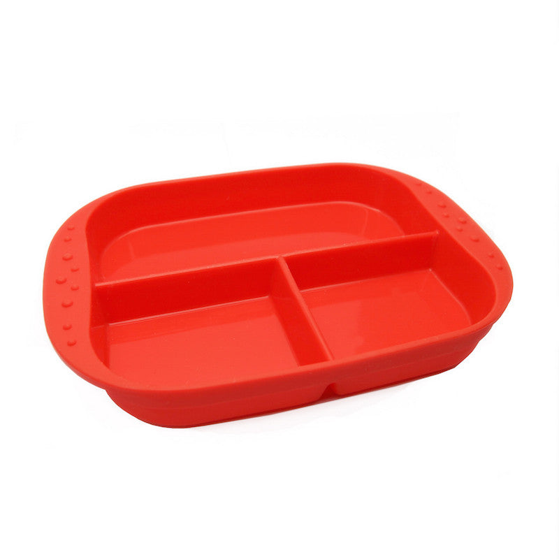 Divided Plate Red