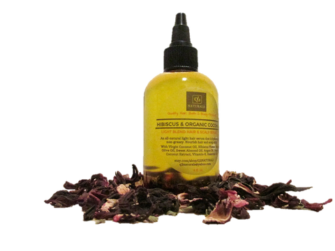 HIBISCUS & ORGANIC COCONUT—LIGHT BLEND HAIR GROWTH & SCALP SERUM | Hair Shine | Hair Loss Treatment - Q2NATURALS