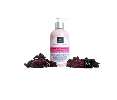 Hibiscus Leave-in Detangler and Conditioner | Natural Hair Organic Knotless Curl Serum - Q2NATURALS