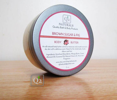 25% OFF! Brown Sugar & Fig Whipped Body Butter | Hand & Body Cream - Q2NATURALS