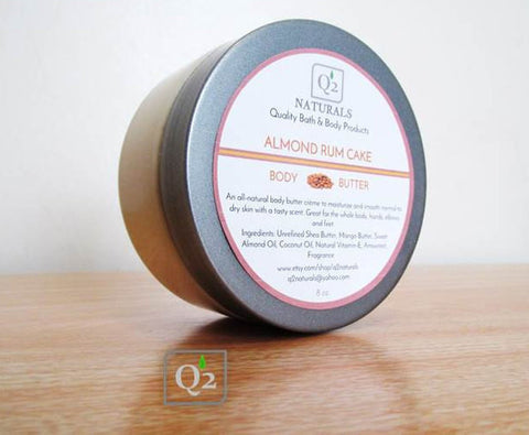 25% OFF! Almond Rum Cake Whipped Body Butter | Shea Moisturizer - Q2NATURALS