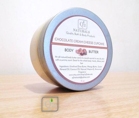 Chocolate Cream Cheese Cupcake | Whipped Body Butter & Hand Cream - Q2NATURALS