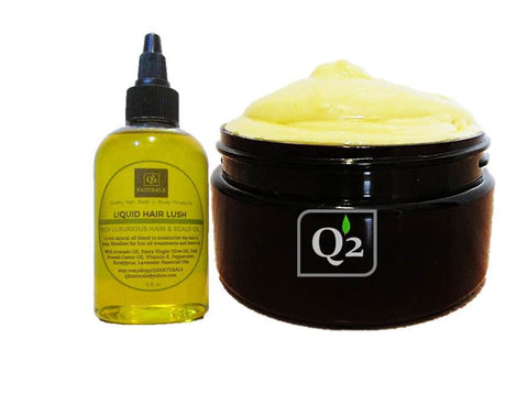Knotless Hair Bundle|LOC Method|Hot Oil Treatment|Natural Hair Kit - Q2NATURALS