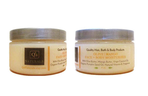 25% OFF! Olive Mango|Face + Body Moisturizer| Body Butter| Face Cream|Soft Radiant Skin Lotion - Q2NATURALS