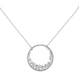 Floating Pavé Circle Necklace