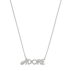 Pavé Logo Necklace - Crystal/Rhodium Plated