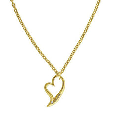 Open Heart Necklace - Crystal/Gold Plated