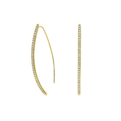 Pavé Arc Earrings - Crystal/Gold Plated