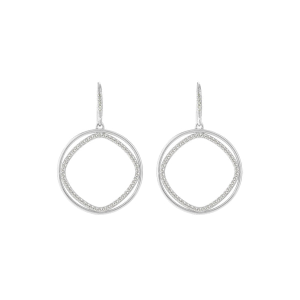 Geometric Shapes French Wire Earrings