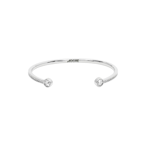 Skinny Pavé & Stone Bangle