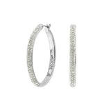 Ceralun Pavé Hoop Earrings