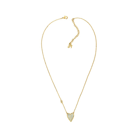 Pointed Heart Necklace - Crystal/Gold Plated