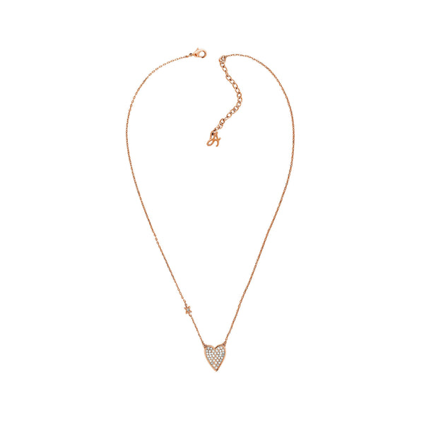 Pointed Heart Necklace - Crystal/Rose Gold Plated
