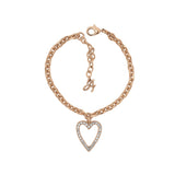 Pointed Open Heart Charm Bracelet