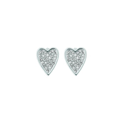Pointed Heart Earrings
