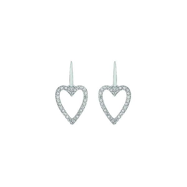 Pointed Open Heart Earrings