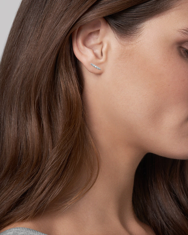 Adore Elegance Pavé Navette Stud Earrings Worn