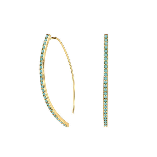 Pavé Arc Earrings