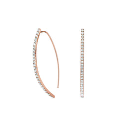 Pavé Arc Earrings - Crystal/Rose Gold Plated