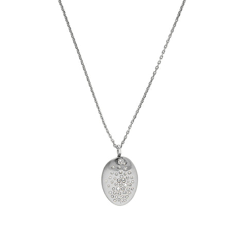 Scattered Crystal Necklace - Crystal/Rhodium Plated