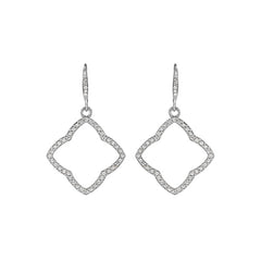 Floret Pavé French Wire Earrings