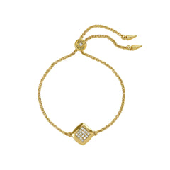 Pavé & Metal Slide Bracelet - Crystal/Gold Plated