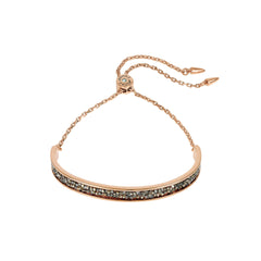 Ultra Fine Rock Slide Bracelet - Gold Crystal/Rose Gold Plated