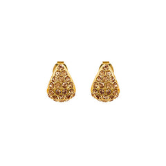 Pavé Triangle Earring - Light Colorado Topaz/Gold Plated