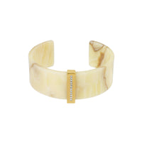 Resin & Pavé Cuff - Crystal/Gold Plated