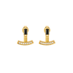 Baguette Bar Jacket Earring - Crystal/Gold Plated