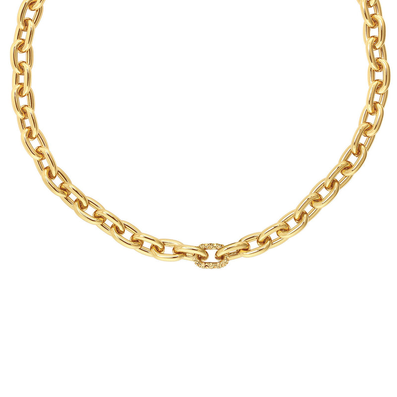 Lozenge Chain & Pavé Necklace
