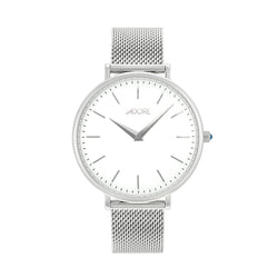 Shimmer 33mm Mesh Watch - Rhodium Plated / Swarovski® Crystal