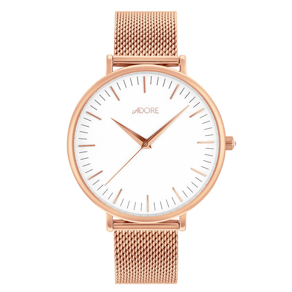 Shimmer 38mm Mesh Watch - Rose Gold Plated / Swarovski® Crystal
