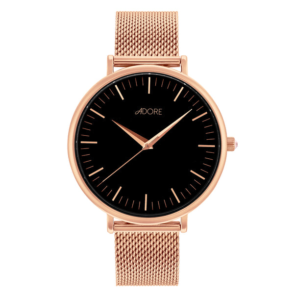 Shimmer 38 Mesh Watch - Rose Gold Plated / Swarovski® Crystal