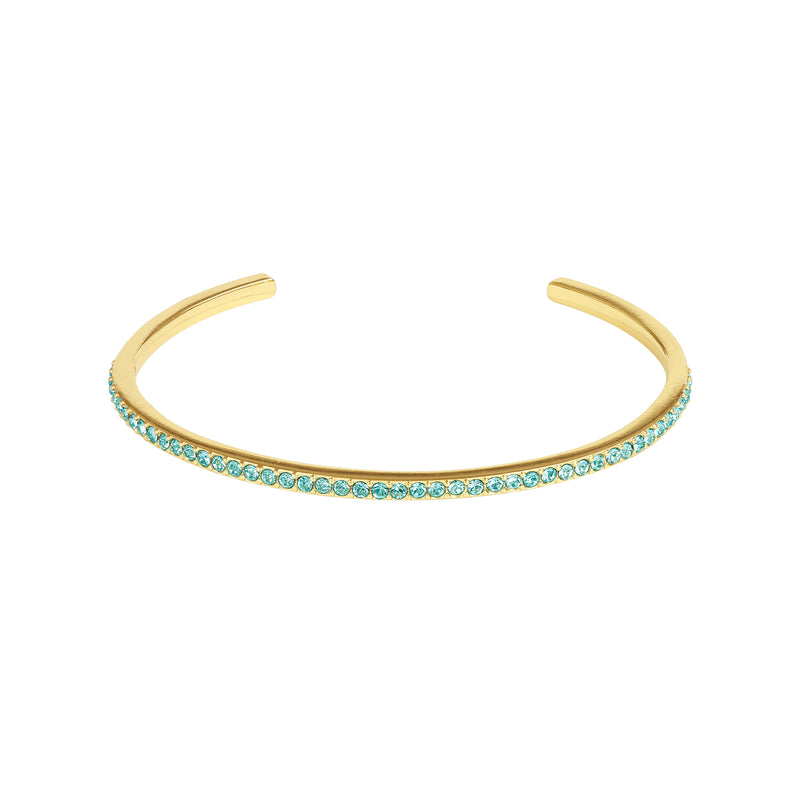 Adore Allure Light Turquoise Skinny Pavé Bangle Detail