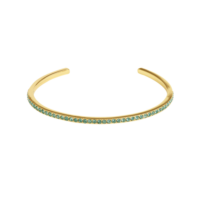 Adore Allure Indian Sapphire Skinny Pavé Bangle Detail