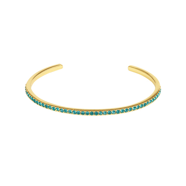 Adore Allure Indicolite Skinny Pavé Bangle Detail