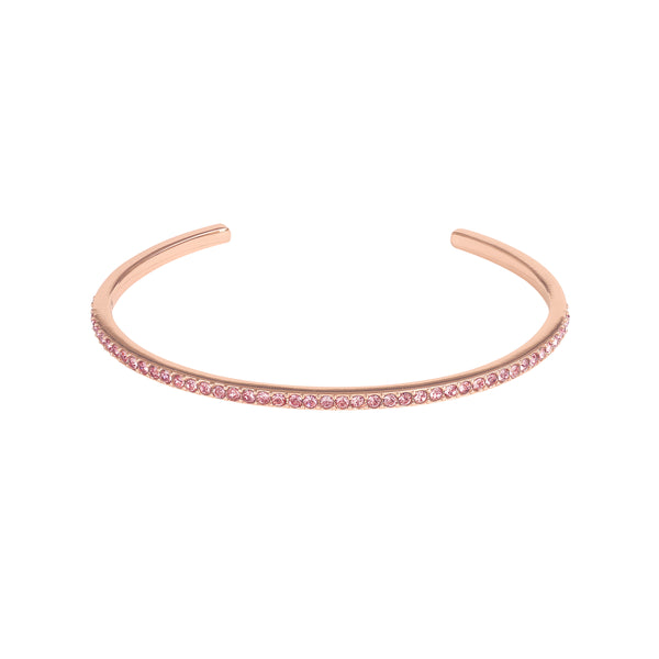 Skinny Pavé Bangle - Crystal Antique Pink/Rose Gold Plated