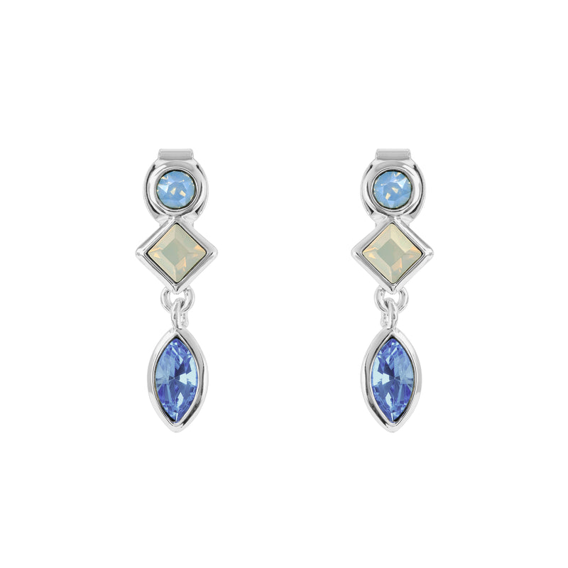 Rhodium Plated Adore Brilliance Crystal Charm Earrings Detail
