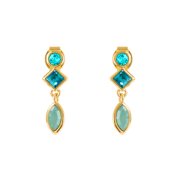 Gold Plated Adore Brilliance Crystal Charm Earrings Detail
