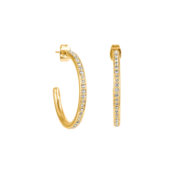 Adore Signature Gold Large Organic Circle Hoops Detail